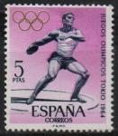 Sellos de Europa - España -  Juegos Olimpicos dl Innsbruck y Tokio