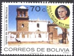 Stamps of the world : Bolivia :  Visita de S.S. Juan Pablo II A Bolivia