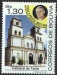Sellos de America - Bolivia -  Visita de S.S. Juan Pablo II A Bolivia