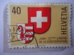 Stamps : Europe : Switzerland :  Escudo de Armas de Jura y Suiza - Jura-23éme Canton de la Confédération