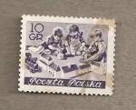 Stamps Poland -  Niños jugando