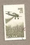 Sellos de Europa - Polonia -  Fumigación aérea de cosechas