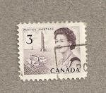 Stamps America - Canada -  Cosechadora cereales