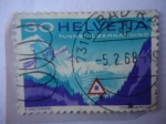 Stamps Switzerland -  Tunnel S. Bernardino-Señal de Trafico del Túnel