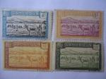 Stamps : Africa : Cameroon :  Cameroun - Nativos y Rebaño, cruzando el río Sanaga