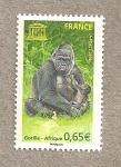 Stamps France -  Gorila centroafricano