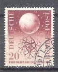 Stamps : Europe : Germany :  RESERVADO MIGUEL Globo y Átomo Y88
