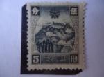 Stamps : Asia : China :  Manchukuo- Manchuria-China Manchukuo-Montañas de Tschan Sai Pan