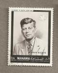 Stamps Asia - Bahrain -  John Kennedy
