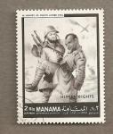 Stamps Asia - Bahrain -  Soldado herido