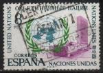 Stamps Spain -  XXV anivesario d´l´jundacion d´l´Naciones Unidas