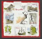 Stamps France -  Bruselas; Casa del rey