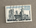 Stamps France -  Catedral de Laon