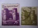 Stamps : Africa : Egypt :  Puerta de las Conquistas - Bab Al Futuh-Cairo - Puerta en la Muralla de la Ciudad Vieja del Cairo.