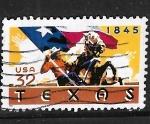 Sellos de America - Estados Unidos -  150 años de Texas como Estado de la Unión Americana