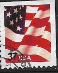 Stamps : America : United_States :  Bandera