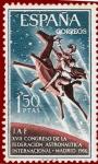 Stamps Spain -  Edifil 1749 XVII Congreso Astronaútica 1966 1,50 NUEVO