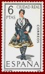 Stamps Spain -  Edifil 1839 Traje típico Ciudad Real 6 NUEVO