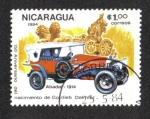 Stamps Nicaragua -  150 aniversario del Nacimiento de Gottlieb Daimler