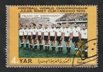 Sellos del Mundo : Asia : Yemen :  Y.A.R. - 117 - Mundial de fútbol Mexico 1970, Selección de Alemania