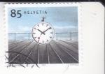 sellos de Europa - Suiza -  PUNTUALIDAD FERROVIARIA