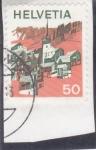 Stamps : Europe : Switzerland :  PUEBLO ALPINO