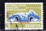 Stamps : Europe : Switzerland :   TUNEL TRANSALPINO GRAND-ST-BERNARD