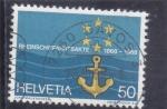 Stamps : Europe : Sweden :  Centenario Bandera de la Comisión central para el Rin shippin