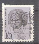 Stamps : Europe : Germany :  RESERVADO MIGUEL Compositores Beethoven Y479