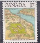 Stamps : America : Canada :  MAPA NIAGARA