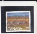 sello : America : Canadá : panorámica de Alberta 1905-1980