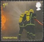 Stamps United Kingdom -  3176 - Bomberos, luchando contra el incendio