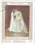 Stamps Romania -  PINTURA- MUJER