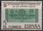 Stamps Spain -  Bicentenario d´l´Independencia d´l´Estados Unidos