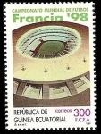 sellos de Africa - Guinea Ecuatorial -  Campeonato Mundial de Fútbol Francia 98  - Estadio de Francia en Saint-Denis