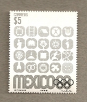 Stamps of the world : Mexico :  Juegos Olimpicos 1968