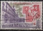 Stamps Spain -  L Aniversario dl Mercado filatelico d´l´Plaza Mayor d´Madrid
