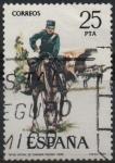 Stamps Spain -  Oficial d´Sanidad Militar