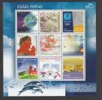 Stamps Greece -  Pareja con rosas