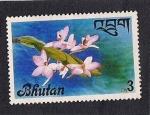 Sellos de Asia - Bhután -  Flor
