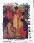 Sellos de America - Bolivia -  Navidad 89. Pinturas de autores Bolivianos