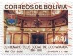 Sellos de America - Bolivia -  Centenario del club Social de Cochabmaba