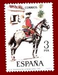 Stamps Spain -  Edifil 2238 Regimiento de la reina 1763 3 NUEVO