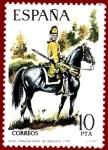 Stamps Europe - Spain -  Edifil 2240 Dragón del regimiento de Sagunto 1775 10 NUEVO