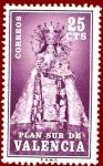 Stamps Spain -  Edifil Valencia 7 Plan Sur Virgen de los Desamparados 0,25 NUEVO