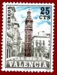 Stamps Europe - Spain -  Edifil Valencia 9 Plan Sur Torre de Santa Catalina 0,25 NUEVO