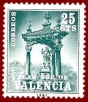 Stamps Europe - Spain -  Edifil Valencia 6 Plan Sur Casilicio de San Vicente Ferrer 0,25 NUEVO