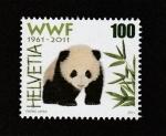 Sellos de Europa - Suiza -  50 años de la fundación de WWF
