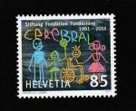 Stamps Switzerland -  50 Aniv. de la creación de la organización ara el cerebro