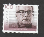 Stamps Switzerland -  100 Aniv. nacimiento de Paul Burhard
